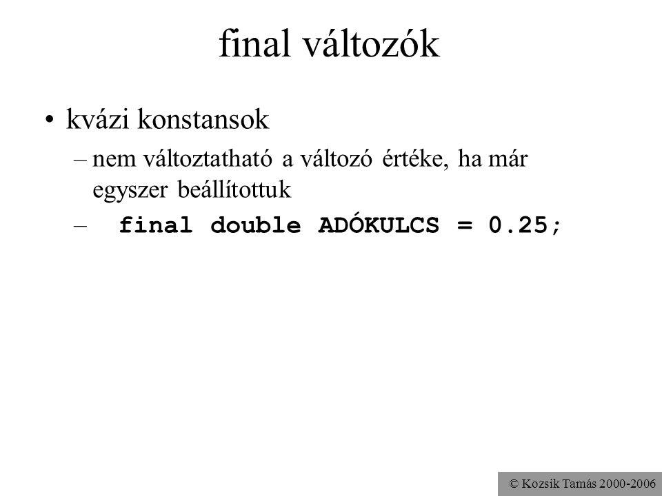 © Kozsik Tamás 2000-2006 A final módosítószó