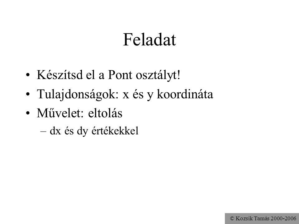 © Kozsik Tamás 2000-2006 Főprogram public class Alkalmazott {... } Alkalmazott.java public class Program { public static void main( String[] args ){ A