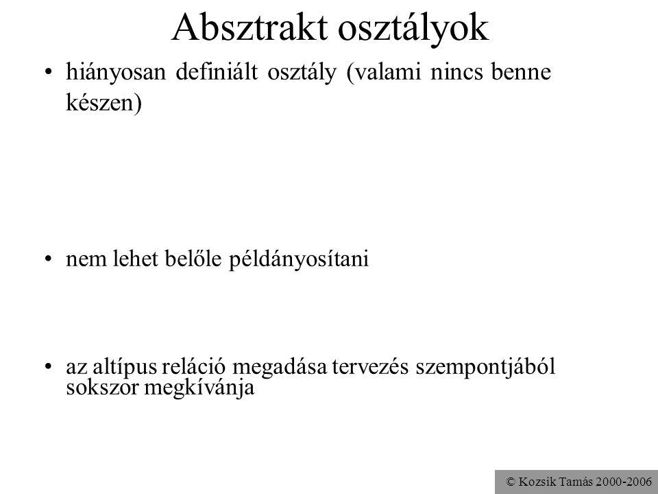 © Kozsik Tamás 2000-2006 final metódus és osztály