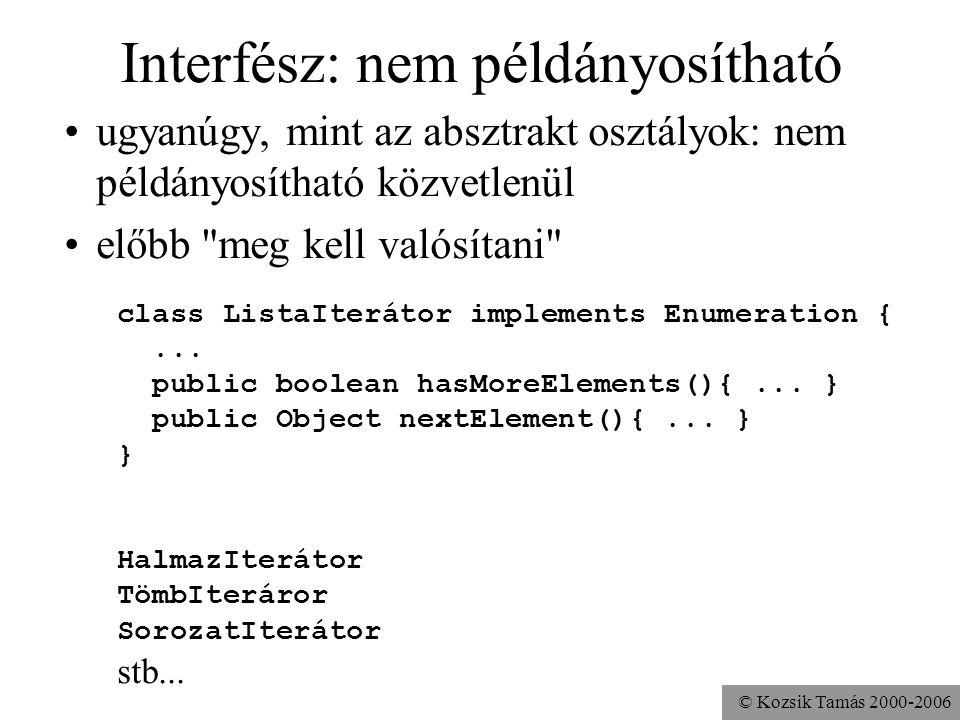 © Kozsik Tamás 2000-2006 Interfész:
