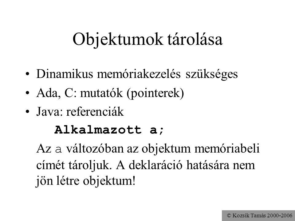 © Kozsik Tamás 2000-2006 Főprogram public class Alkalmazott {... } Alkalmazott.java public class Program { public static void main( String[] args ){ n