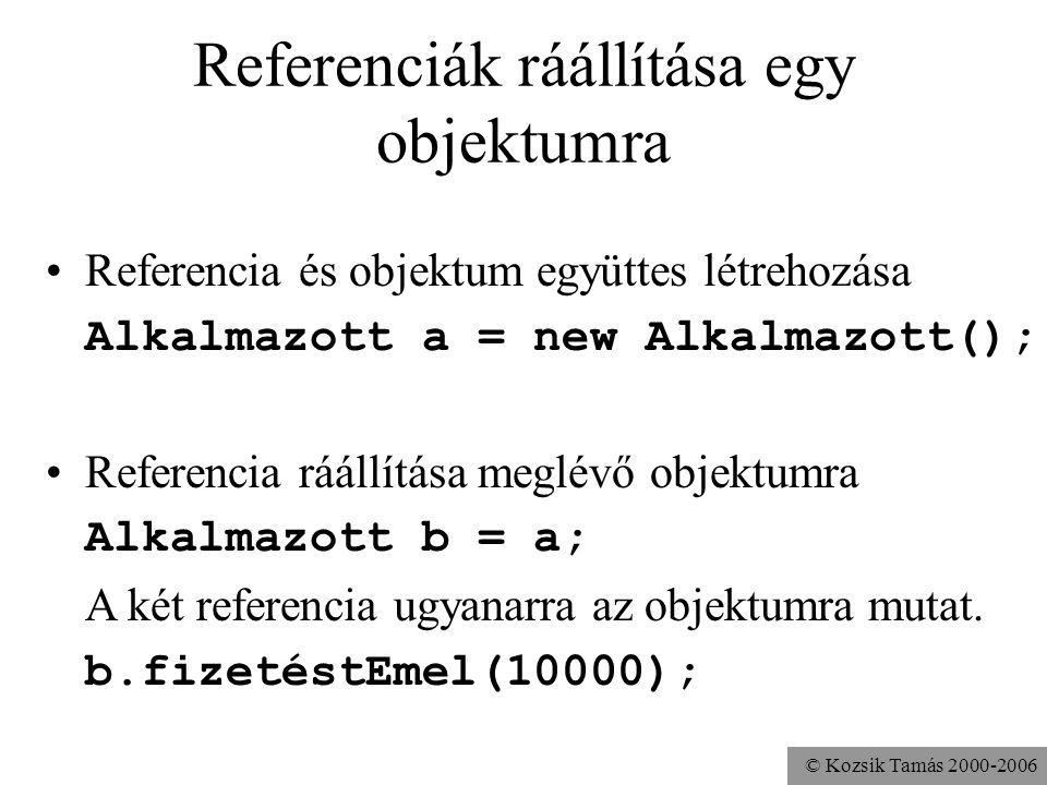 © Kozsik Tamás 2000-2006 Típusinvariáns megőrzése public class Kör { double sugár, terület; public void sugaratBeállít(double r){ sugár = r; terület =