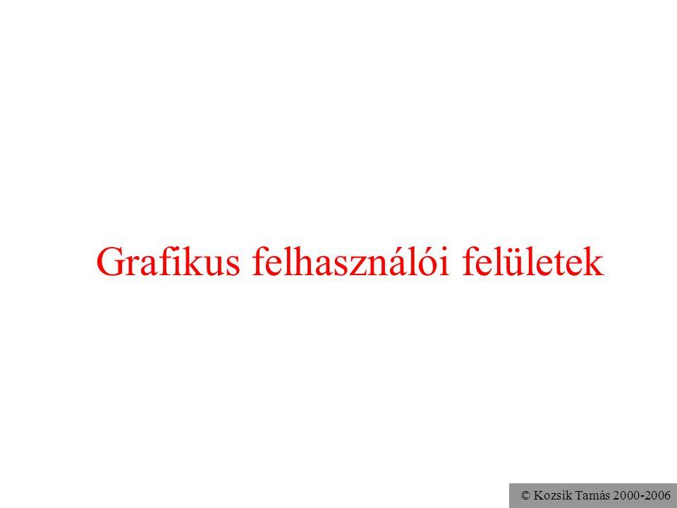 © Kozsik Tamás 2000-2006 Grafikus felhasználói felületek