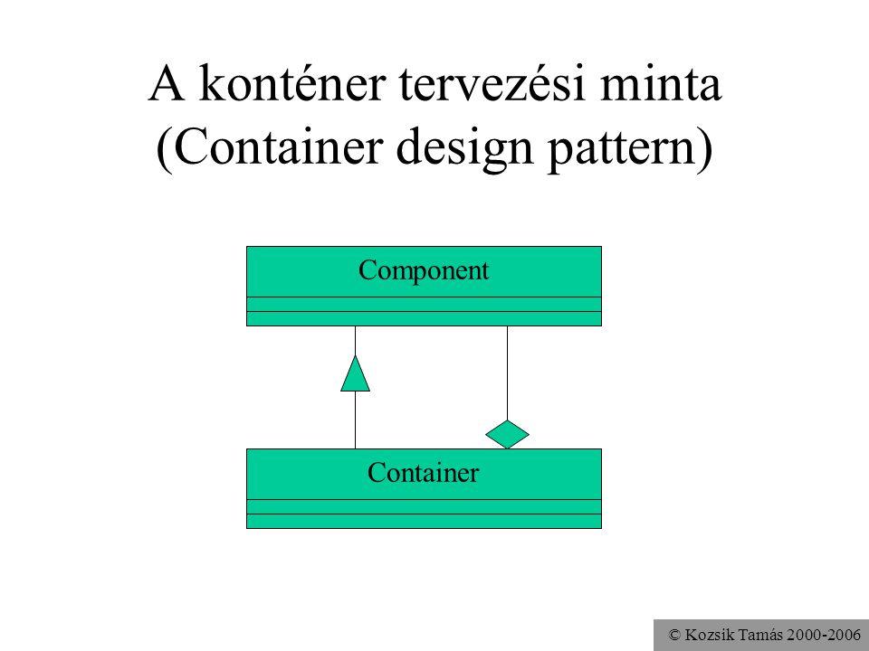 © Kozsik Tamás 2000-2006 A konténer tervezési minta (Container design pattern) Component Container
