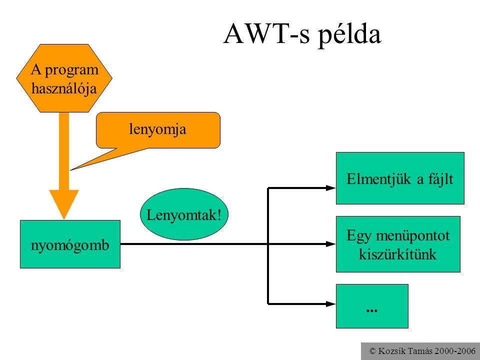© Kozsik Tamás 2000-2006 AWT-s példa Lenyomtak.