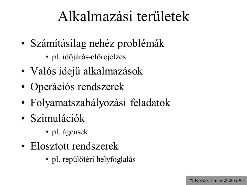 © Kozsik Tamás 2000-2006 Alkalmazási területek Számításilag nehéz problémák pl.