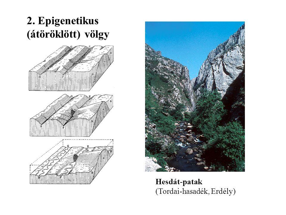Diszkordáns (áttöréses) völgyek Vág-völgy (Szlovákia) 1. Antecedens völgy