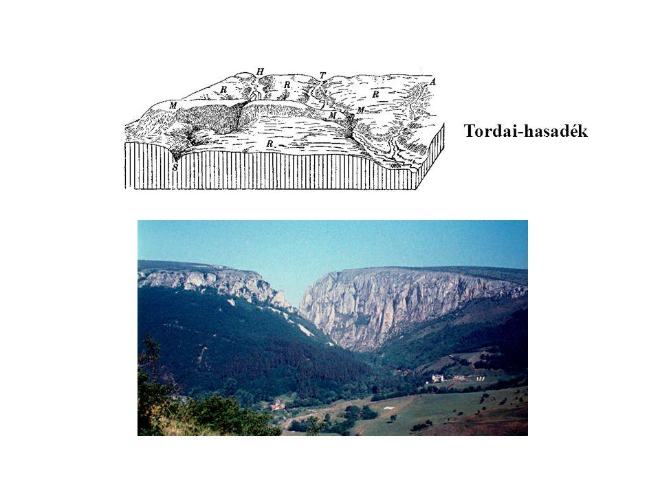 2. Epigenetikus (átöröklött) völgy Hesdát-patak (Tordai-hasadék, Erdély)