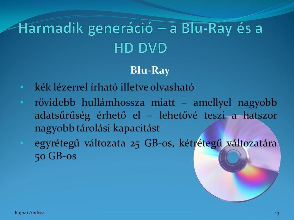 kék lézerrel írható illetve olvasható rövidebb hullámhossza miatt – amellyel nagyobb adatsűrűség érhető el – lehetővé teszi a hatszor nagyobb tárolási