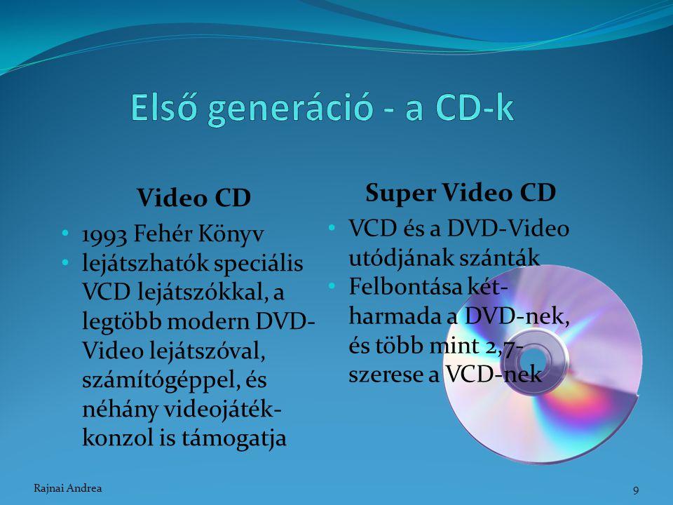 Video CD 1993 Fehér Könyv lejátszhatók speciális VCD lejátszókkal, a legtöbb modern DVD- Video lejátszóval, számítógéppel, és néhány videojáték- konzo