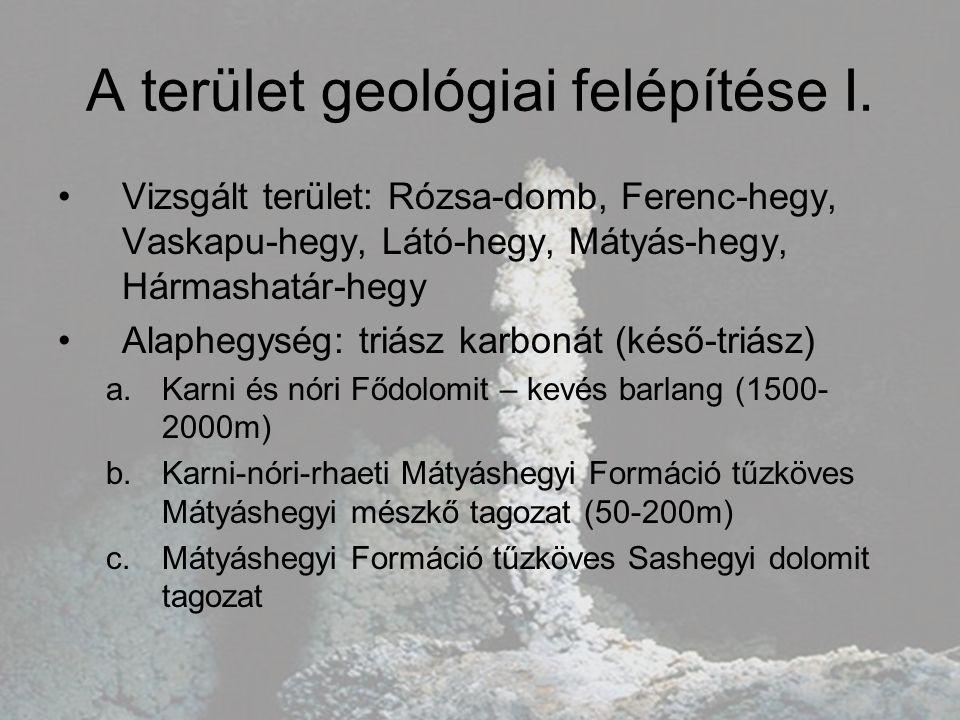 A terület geológiai felépítése I.
