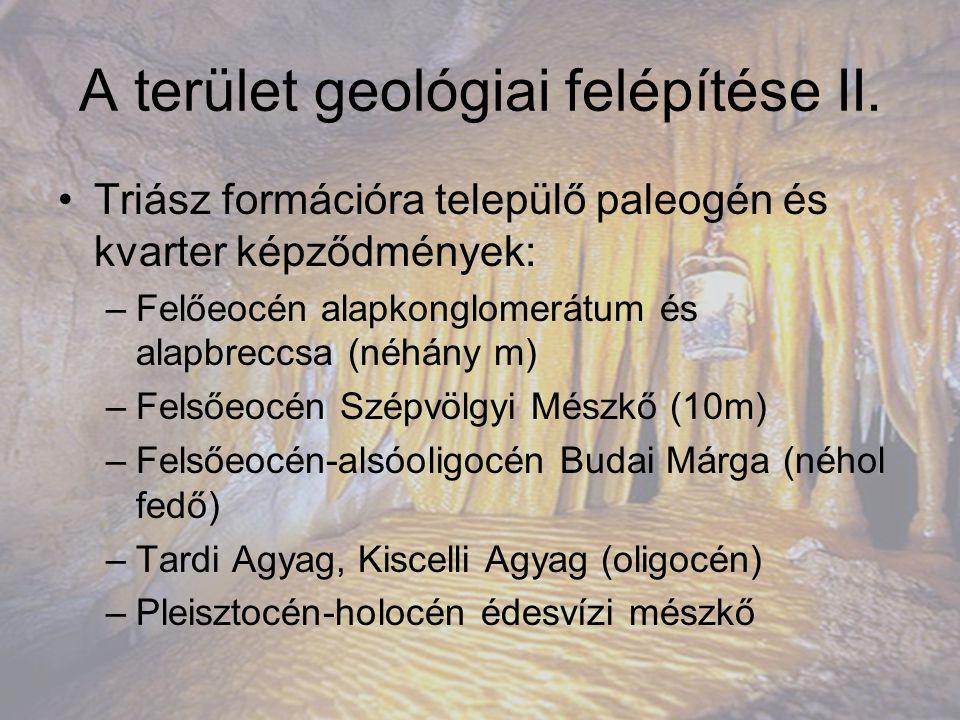 A terület geológiai felépítése II.