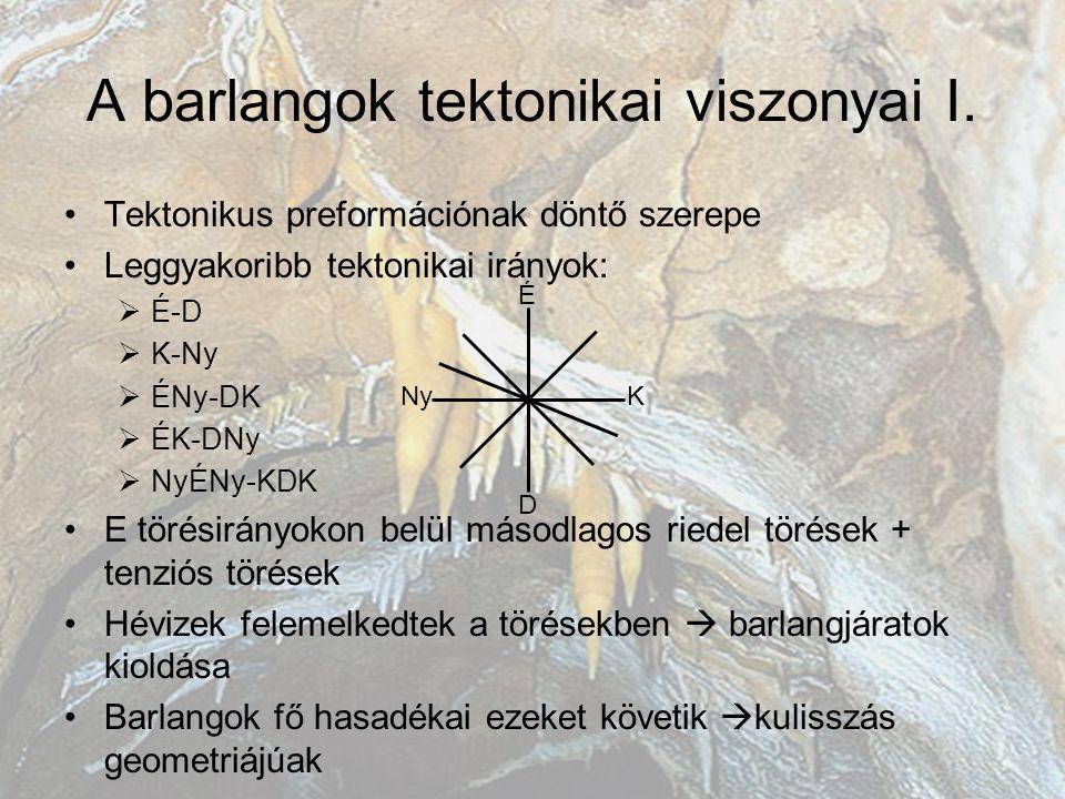 A barlangok tektonikai viszonyai II.