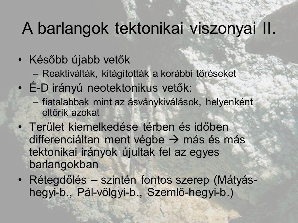A barlangok megismerése A XI.sz.