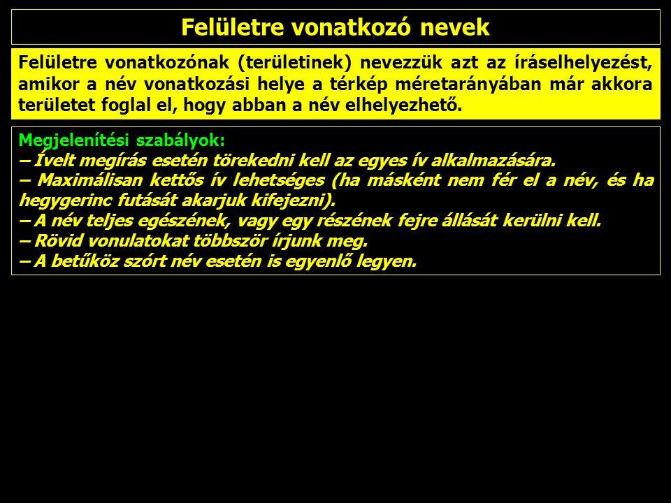 – Idegen területek védett területeinek nevei magyar írásmóddal –közszói és melléknévi tagok általában fordítandók –tulajdonnévi tagok, ha a névnek magyar alakja van, az épüljön be a névbe Národný park Muránska Murányi-fennsík n.