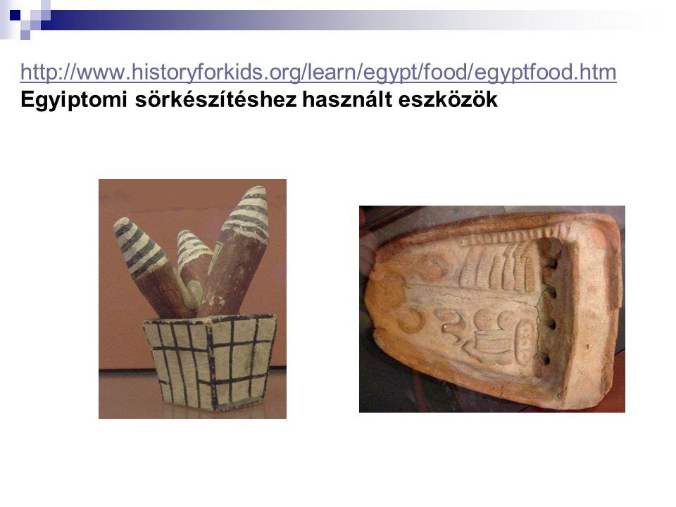 http://www.historyforkids.org/learn/egypt/food/egyptfood.htm http://www.historyforkids.org/learn/egypt/food/egyptfood.htm Egyiptomi sörkészítéshez has