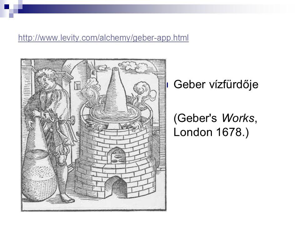http://www.levity.com/alchemy/geber-app.html Geber vízfürdője (Geber's Works, London 1678.)