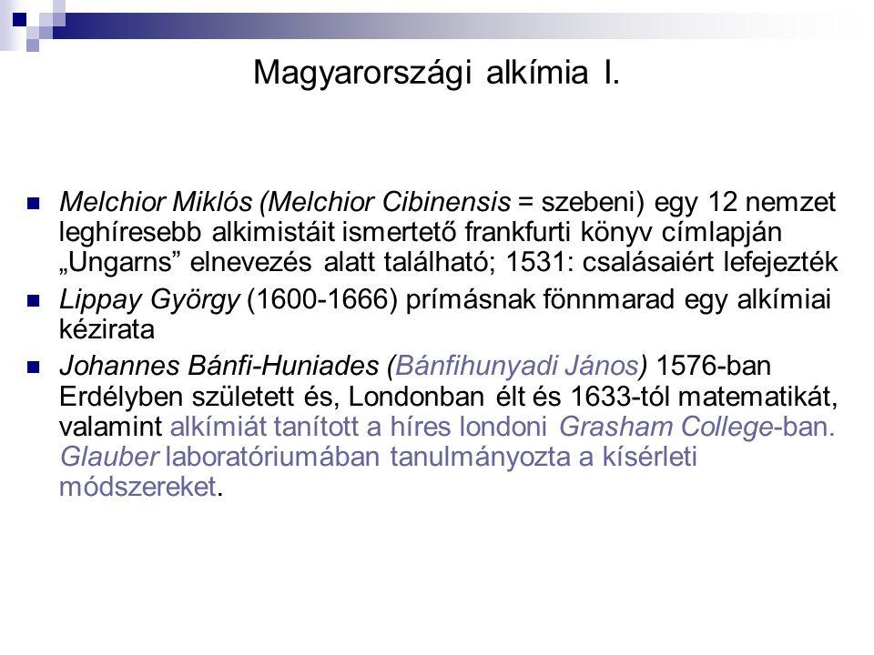 """Magyarországi alkímia I. Melchior Miklós (Melchior Cibinensis = szebeni) egy 12 nemzet leghíresebb alkimistáit ismertető frankfurti könyv címlapján """"U"""