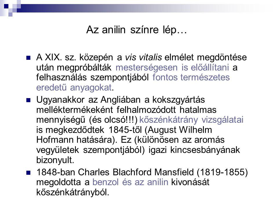 Az indigó előállítása (folyt.) Elővizsgálatok már 1806-tól.