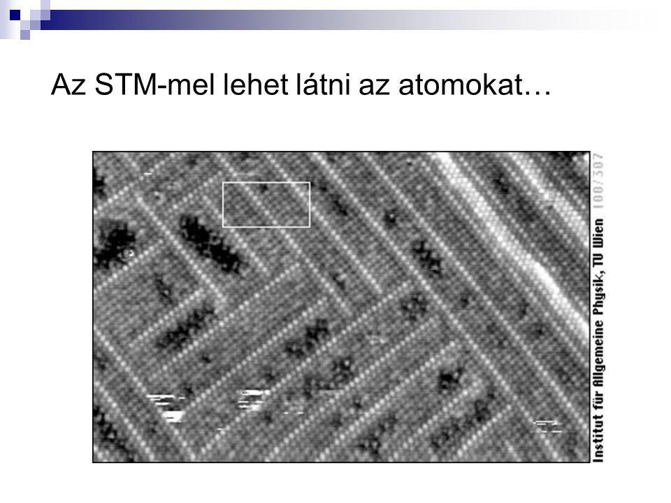 Az STM-mel lehet látni az atomokat…