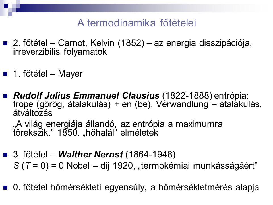 A termodinamika főtételei 2.