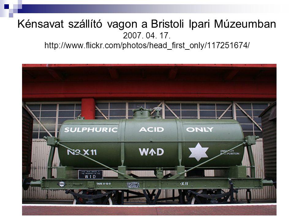 Kénsavat szállító vagon a Bristoli Ipari Múzeumban 2007.