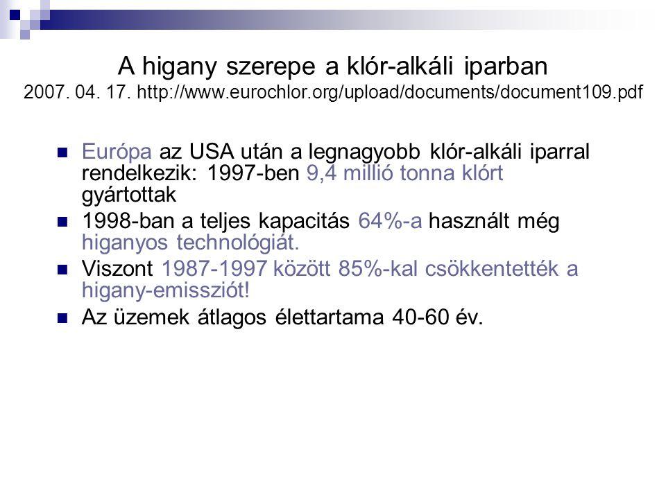 Idézet egy higanyemisszióról szóló egyezmény szövegéből: 2007.