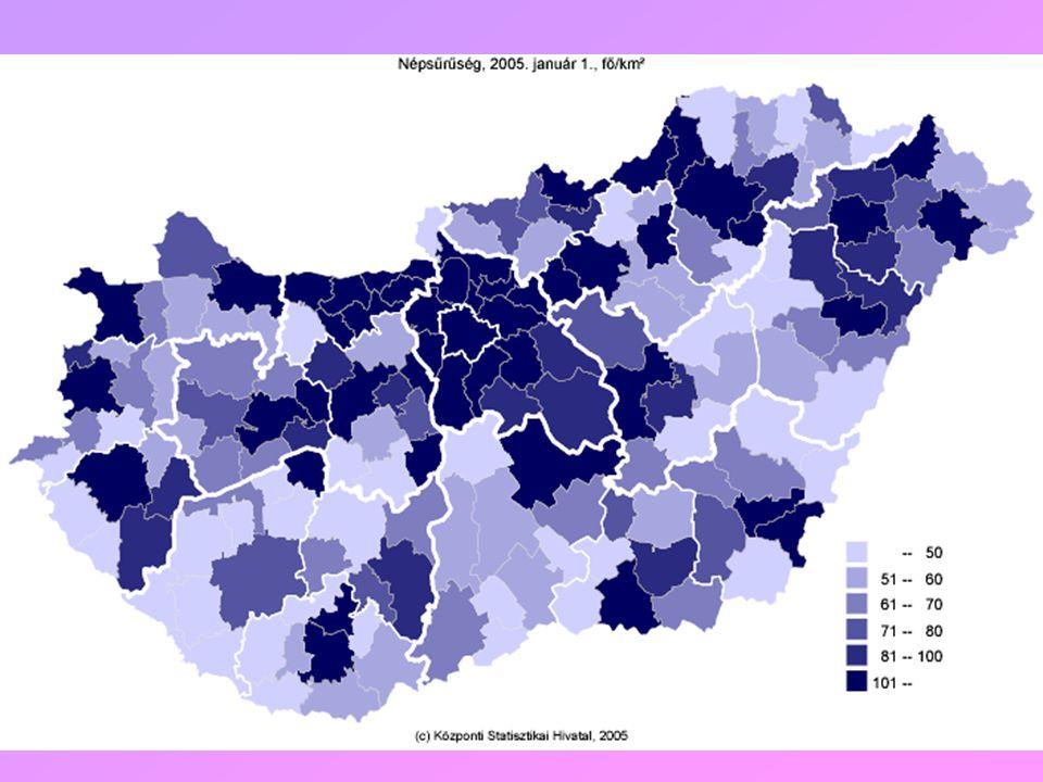 Források: Perczel György (szerk): Magyarország társadalmi-gazdasági földrajza, ELTE, Eötvös Kiadó, 2003.