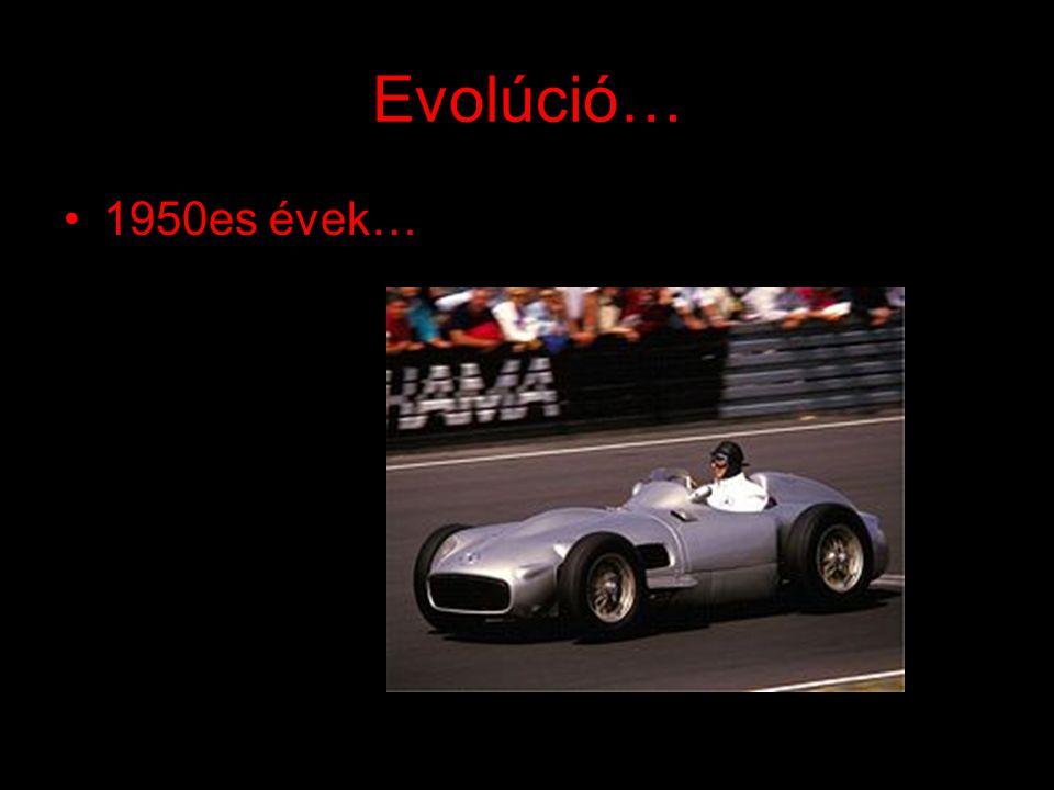 Evolúció… 1960as évek…