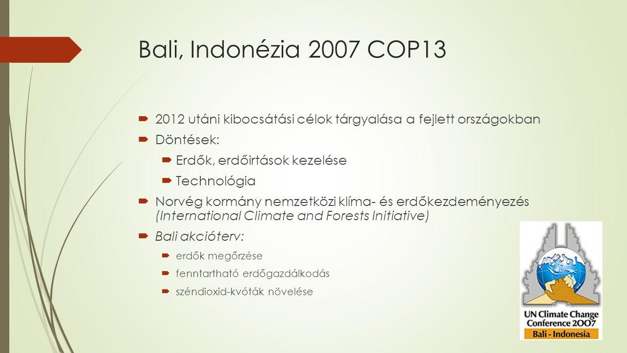 Poznan,Lengyelország 2008 COP14  Kreálni kell egy effektív nemzetközi választ az éghajlat változásra a COP15 alkalmával