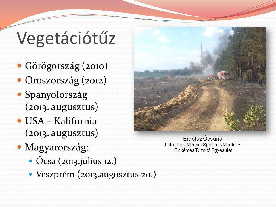 Görögország (2010) Oroszország (2012) Spanyolország (2013. augusztus) USA – Kalifornia (2013. augusztus) Magyarország: Ócsa (2013.július 12.) Veszprém