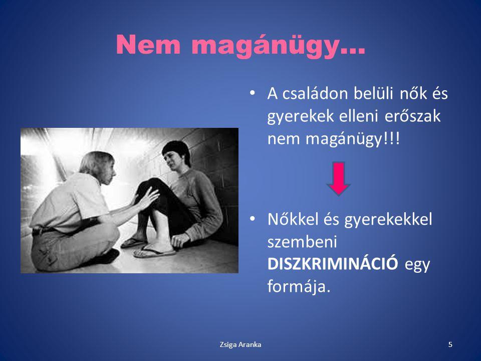 Nem magánügy… A családon belüli nők és gyerekek elleni erőszak nem magánügy!!! Nőkkel és gyerekekkel szembeni DISZKRIMINÁCIÓ egy formája. 5Zsiga Arank