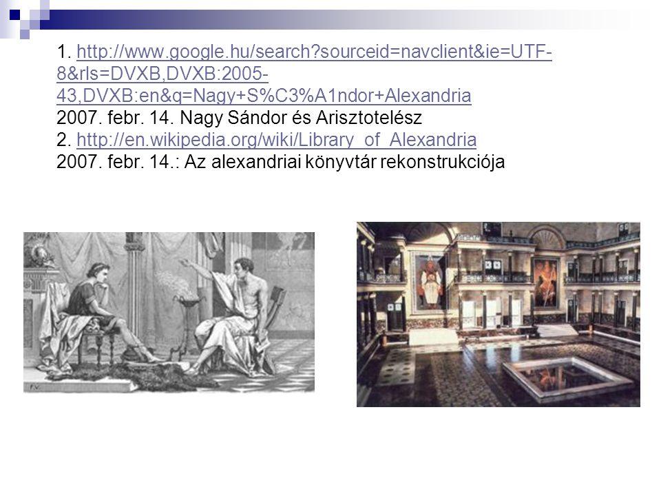 1. http://www.google.hu/search?sourceid=navclient&ie=UTF- 8&rls=DVXB,DVXB:2005- 43,DVXB:en&q=Nagy+S%C3%A1ndor+Alexandria 2007. febr. 14. Nagy Sándor é