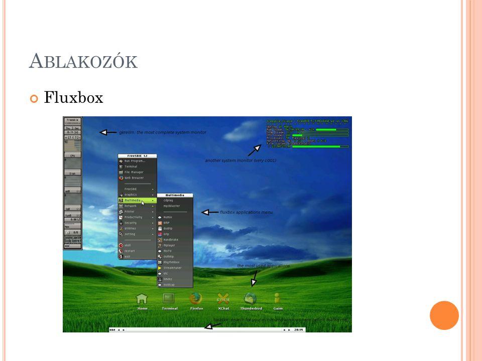 A BLAKOZÓK Fluxbox