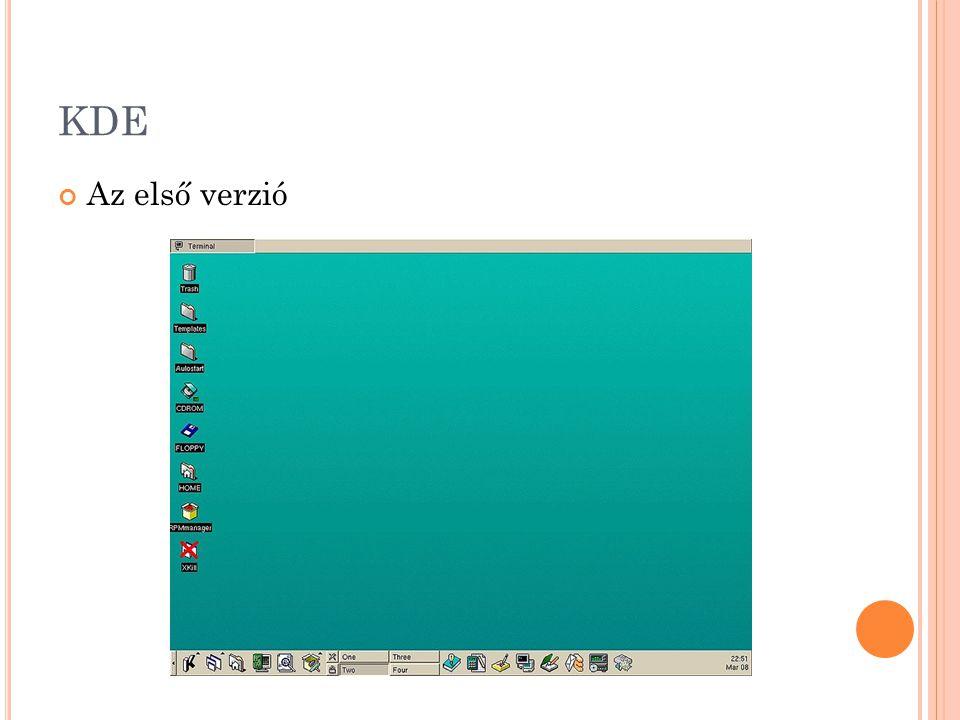KDE Az első verzió