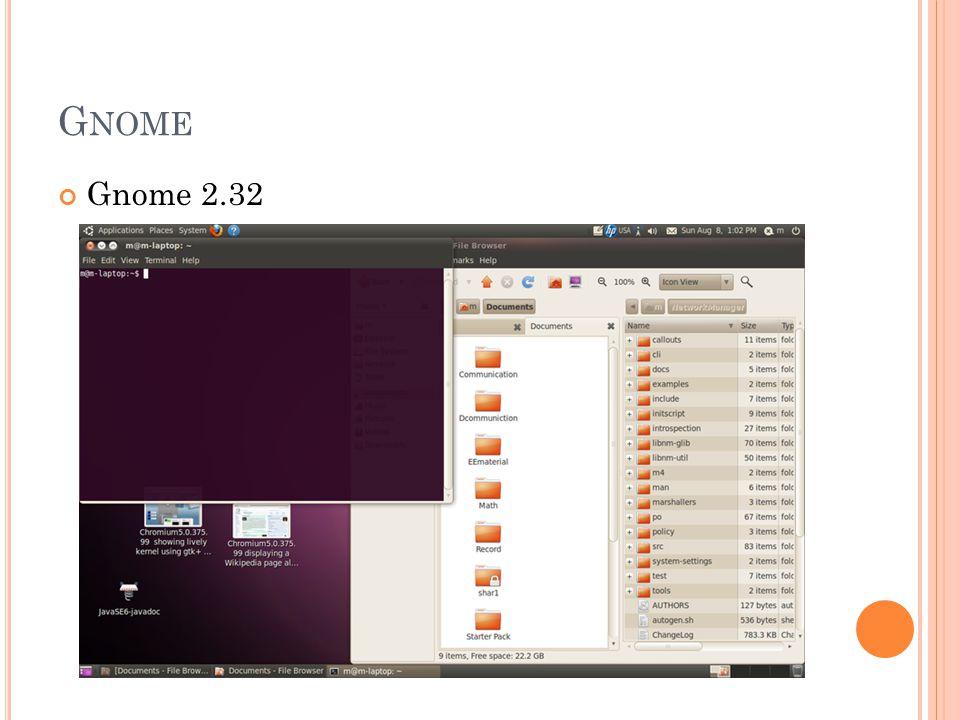 G NOME Gnome 2.32