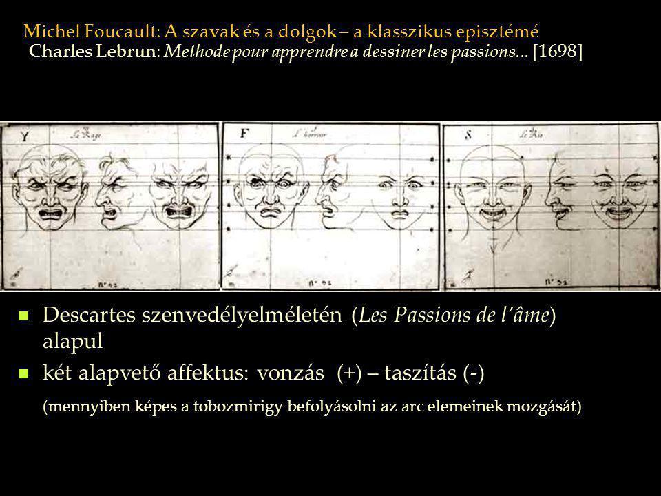 Michel Foucault: A szavak és a dolgok – a klasszikus episztémé Descartes szenvedélyelméletén (Les Passions de l'âme) alapul két alapvető affektus: von