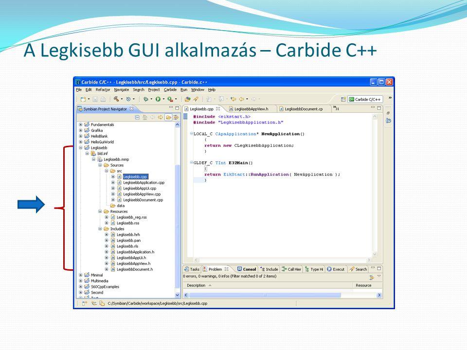 A Legkisebb GUI alkalmazás – Carbide C++