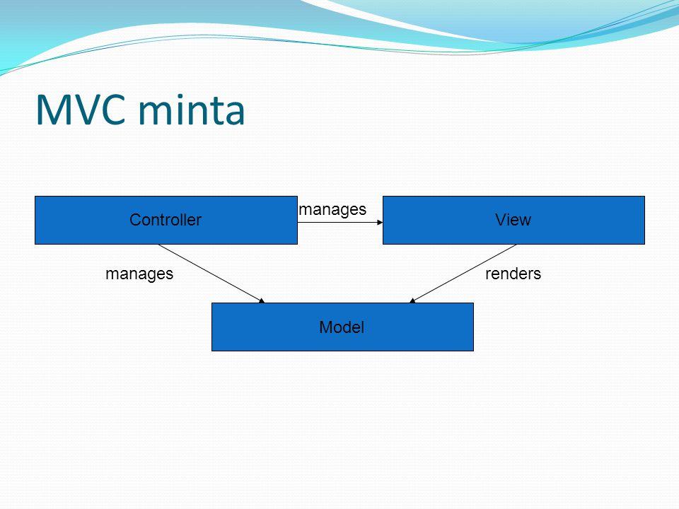A Symbian alkalmazások felépítése ApplicationAppView (V) Document Model (M) AppUi (C) creates creates, manages renders manages creates, manages