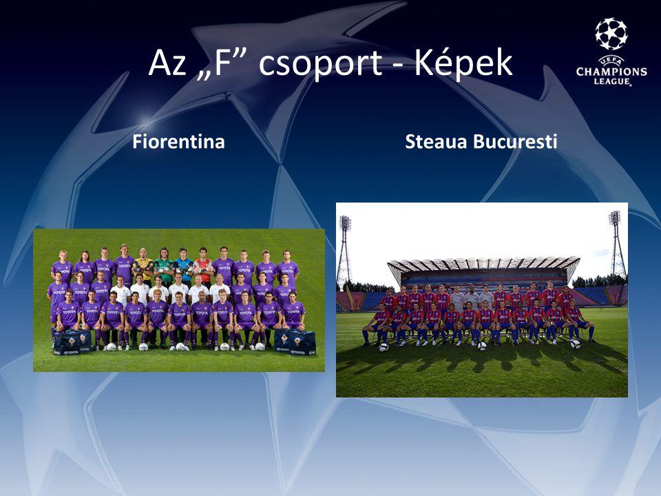 "Az ""F csoport - Képek FiorentinaSteaua Bucuresti"