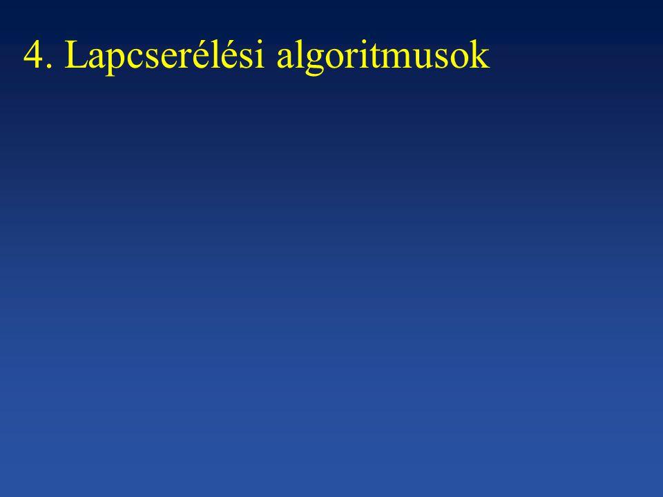 4. Lapcserélési algoritmusok