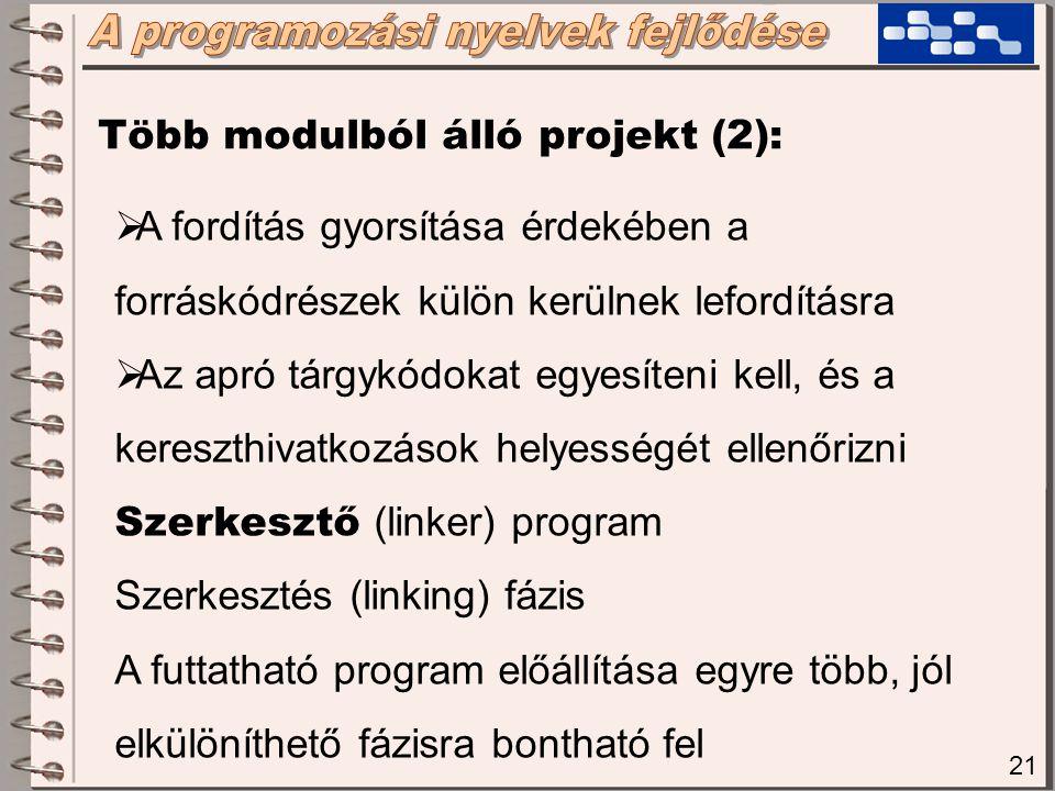 """22 Még mindig hiányzik:  Nincs tisztán eljárás, az eljárás """"törzsébe is közvetlenül be lehet ugorni  Egyetlen """"eljárás belsejében is tetszőleges módon lehet ugrálni előre-hátra  Az assembly nyelv is processzorfüggő"""