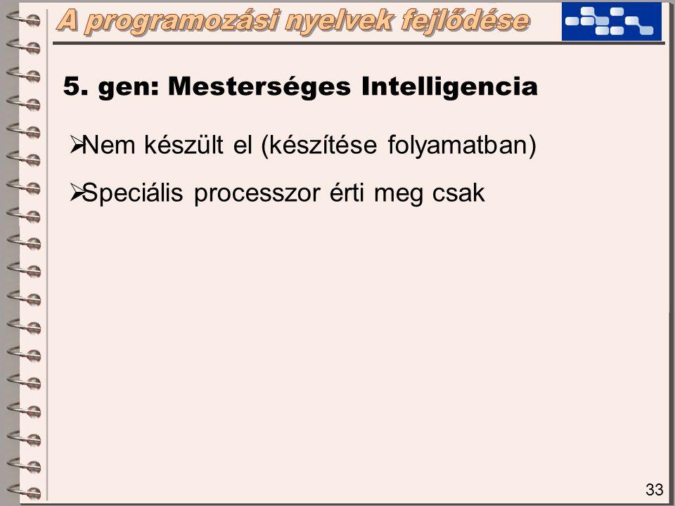 34  1.Imperatív (procedurális) nyelvek  2. Applikatív (funkcionális) nyelvek  3.
