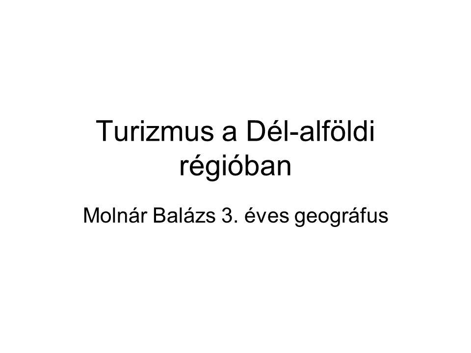 Turizmus a Dél-alföldi régióban Molnár Balázs 3. éves geográfus
