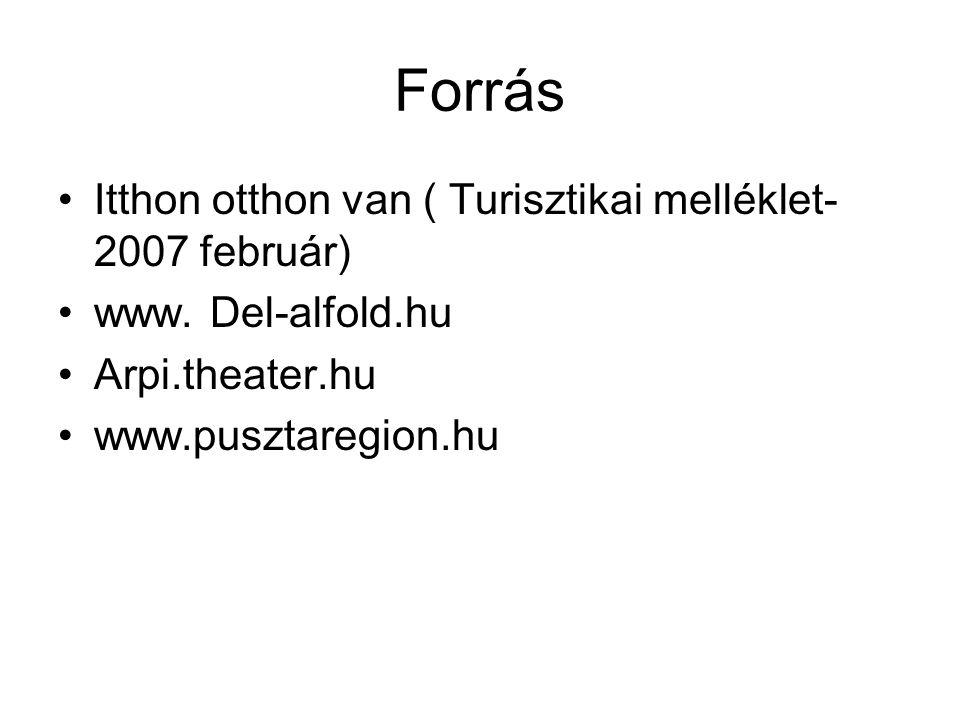 Forrás Itthon otthon van ( Turisztikai melléklet- 2007 február) www.