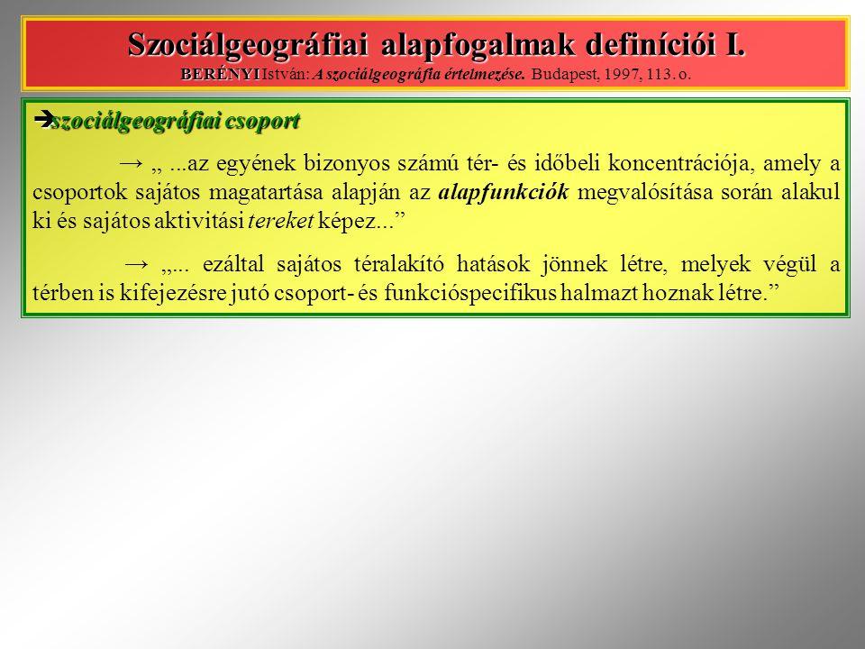 """ szociálgeográfiai tér → """"..."""