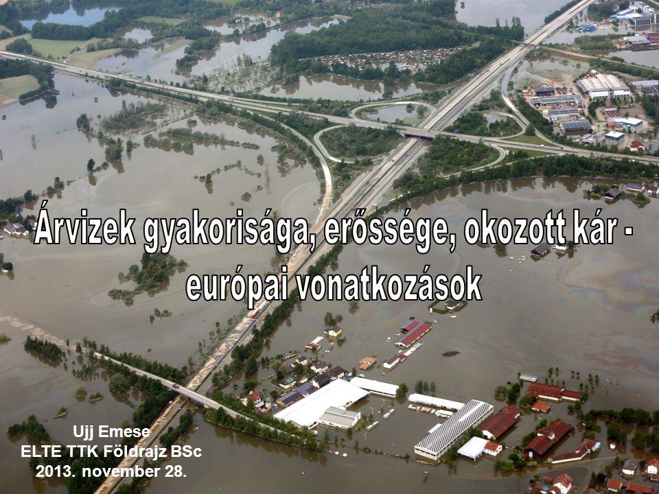 Általános tudnivalók Árvíz fogalma: egy folyóvíz vízszintjének olyan mértékű emelkedése, amikor az a medréből kilép.