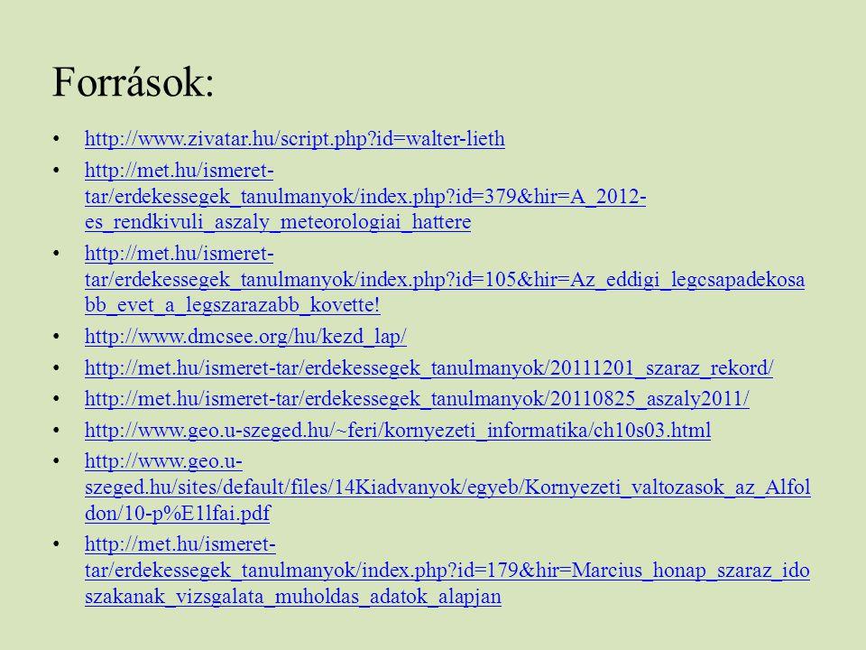 Források: http://www.zivatar.hu/script.php?id=walter-lieth http://met.hu/ismeret- tar/erdekessegek_tanulmanyok/index.php?id=379&hir=A_2012- es_rendkiv