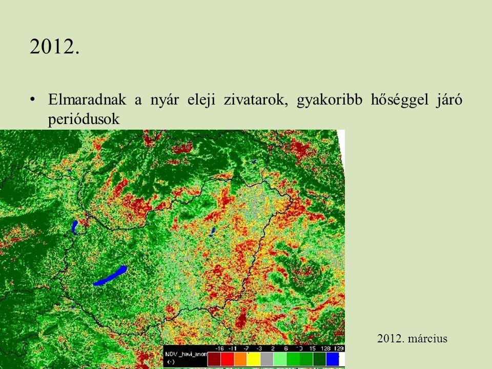 2012. Elmaradnak a nyár eleji zivatarok, gyakoribb hőséggel járó periódusok 2012. március