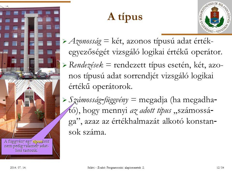 ELTE Szlávi - Zsakó: Programozási alapismeretek 2.12/542014.
